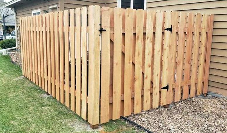 Wood Fence Gate